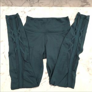 LuluLemon full length submarine green leggings